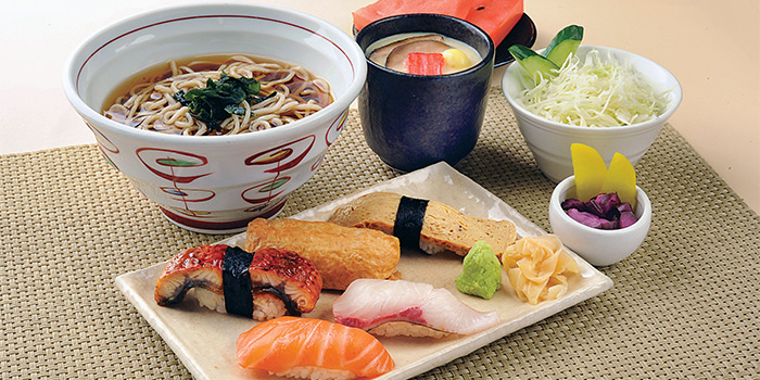 Sushi & Soba Set A from Shimbashi Soba at Paragon in Orchard, Singapore