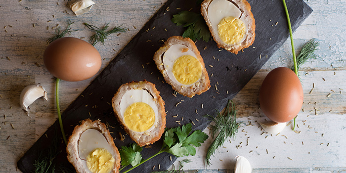 Scottish Eggs from Small Ville Bakery Cafe in Yio Chu Kang, Singapore
