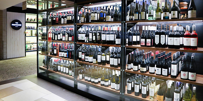Wine Display of The Providore (Mandarin Gallery) in Orchard, Singapore