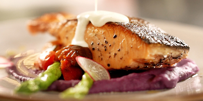 Grilled Salmon from Vibes Cafe (Westgate) in Jurong, Singapore