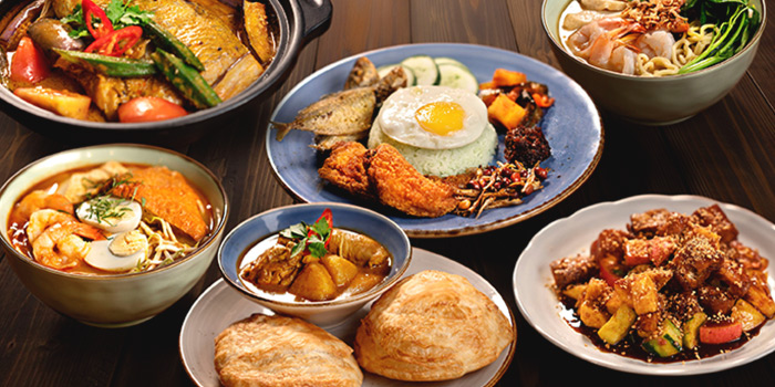 Local Food Spread from Vibes Cafe (Westgate) in Jurong, Singapore