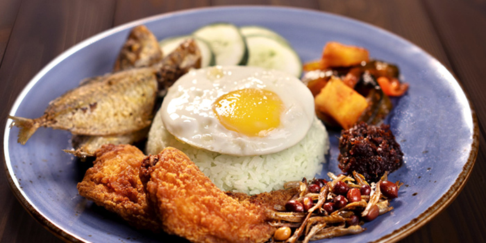 Nasi Lemak from Vibes Cafe (Westgate) in Jurong, Singapore