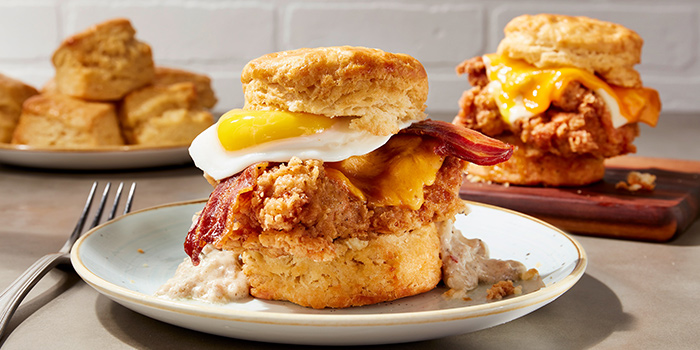Breakfast Food Spread from Yardbird Southern Table & Bar at The Shoppes at Marina Bay Sands in Marina Bay, Singapore