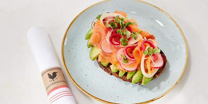 Smoked Salmon Avocado Toast from Yardbird Southern Table & Bar at The Shoppes at Marina Bay Sands in Marina Bay, Singapore
