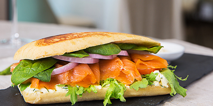 Smoke Salmon Ciabatta from Revel Bistro & Bar at Marina Square in City Hall, Singapore
