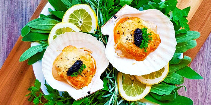 Scallops with Parmisan Sabayon and Caviar from The Terminal in Yio Chu Kang, Singapore