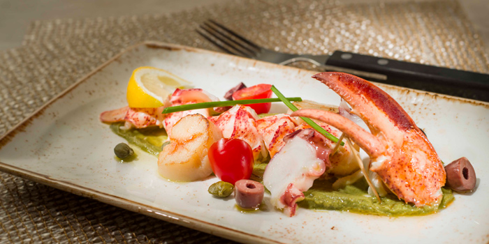 Seafood & Lobster Salad with Avocado Puree, The Farmhouse, North Point, Hong Kong