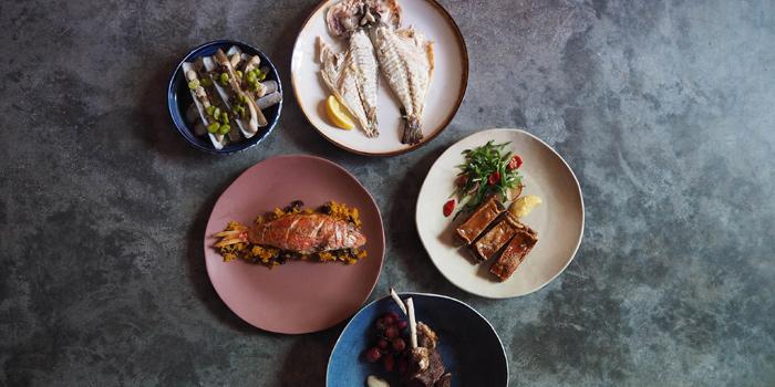 Selection of Food from Via Maris at Convent Road, Silom, Bangkok