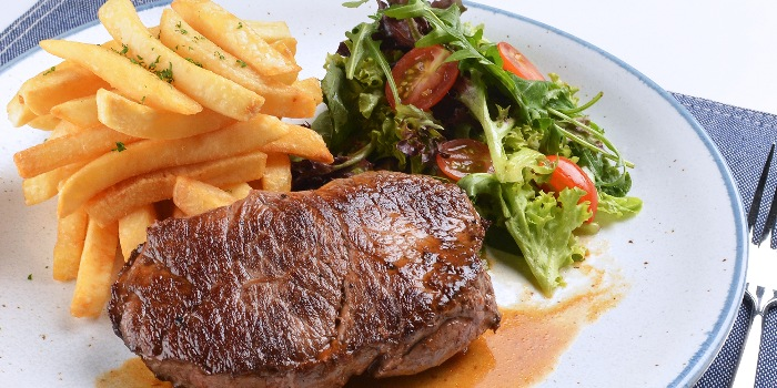 Sirloin Steak from A*MUSE Zichar + Bistro Concept in Outram, Singapore