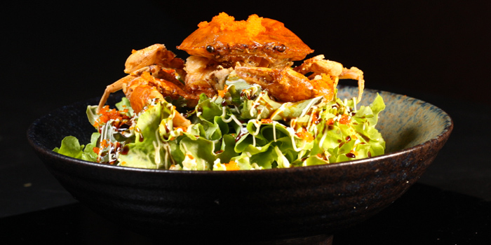 Soft Shell Crab Salad from Kazan by sushi yama at Singha complex tower 1788 Fl.1 unit102 Petchburi Road Bangkapi, Huai Khwang Bangkok