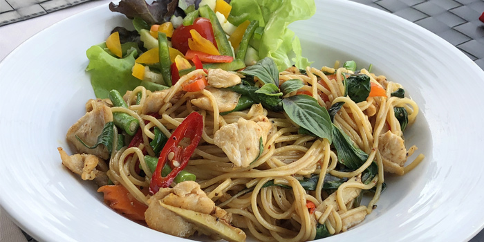 Spaghetti Chicken  from Mamma Mia in Bangtao, Phuket, Thailand.