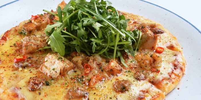 Spicy Seafood Pizza from A*MUSE Zichar + Bistro Concept in Outram, Singapore