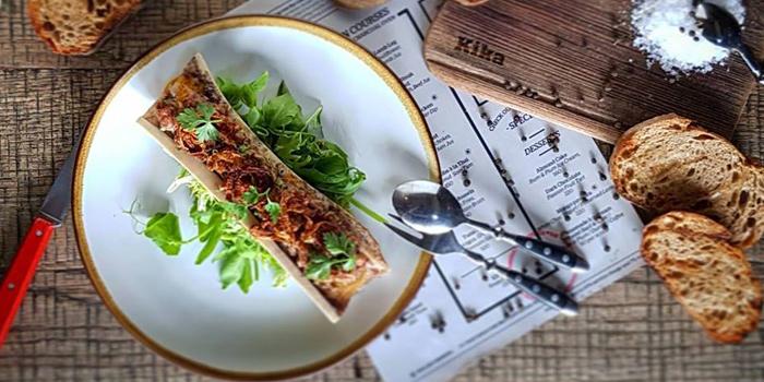 Steak Tartare on Bone Marrow from Kika Kitchen & Bar at 14 Convent Rd, Silom, Bang Rak, Bangkok
