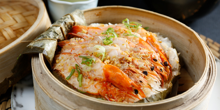Steamed Rice with Shrimp in Lotus Leaf, Steam, Central, Hong Kong