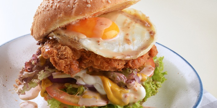 Sunny Chicken Burger from A*MUSE Zichar + Bistro Concept in Outram, Singapore