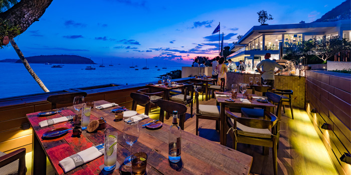 Sunset Time of Prime at The Nai Harn, Phuket, Thailand.