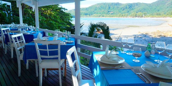 Table Setting of  The Deck Restaurant Kamala in Kamala, Phuket, Thailand.