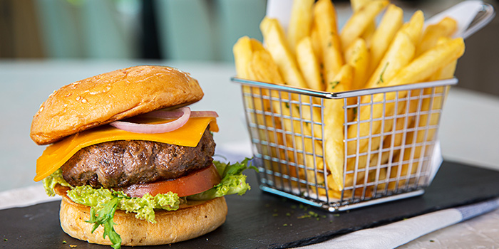 Angus Beef Burger from Revel Bistro & Bar at Marina Square in City Hall, Singapore