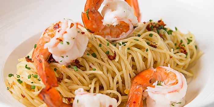 Prawn Aglio Olio from Revel Bistro & Bar at Marina Square in City Hall, Singapore