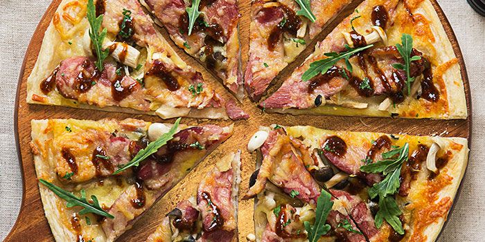 Roasted Duck and Mushroom Pizza from Revel Bistro & Bar at Marina Square in City Hall, Singapore