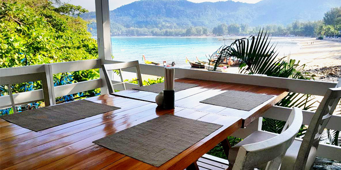 The view of The Deck Restaurant Kamala in Kamala, Phuket, Thailand.