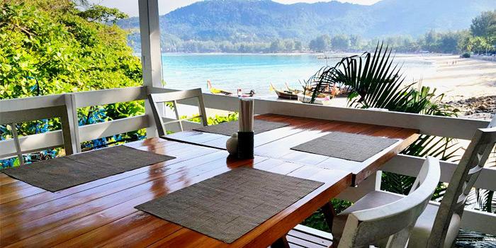 The view of The Deck Restaurant Kamala in Kamala, Phuket, Thailand.