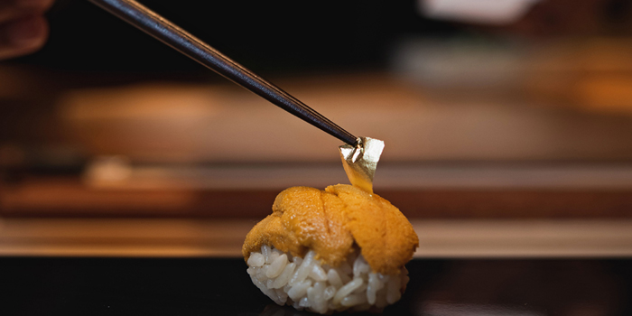 Uni Sushi from Yuzu Omakase at 258/9-10 Siam Square Soi 3, 2F Pathumwan Bangkok