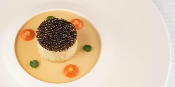 Atlantic Wild Sea Bass Tartare from Tables Grill Restaurant at Grand Hyatt Erawan, Bangkok