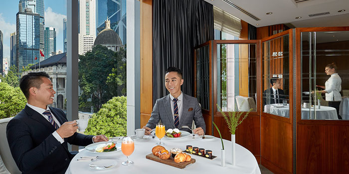 Business Meeting, Mandarin Grill + Bar, Central, Hong Kong