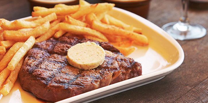 Steak from Les Bouchons @ Ann Siang in Tanjong Pagar, Singapore