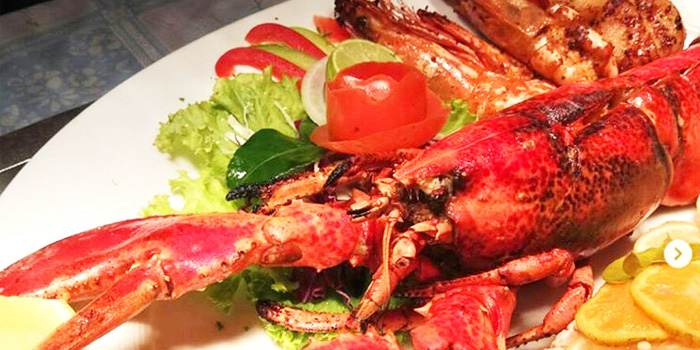 Seafood Plate from The Deck Restaurant Kamala in Kamala, Phuket, Thailand.