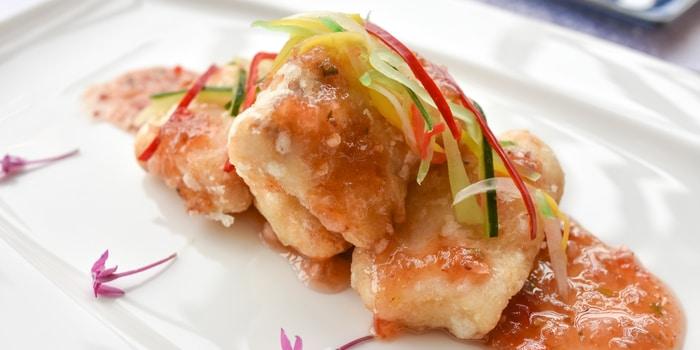 Deep Fried Fish Fillet with Plum Thai Sauce from Pearl (JW Marriott) at JW Marriott Jakarta in Kuningan, Jakarta
