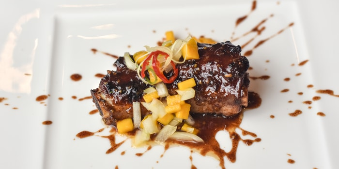 Wok Baked Pork Ribs with Five Spice Vinegar Sauce at Pearl (JW Marriott)