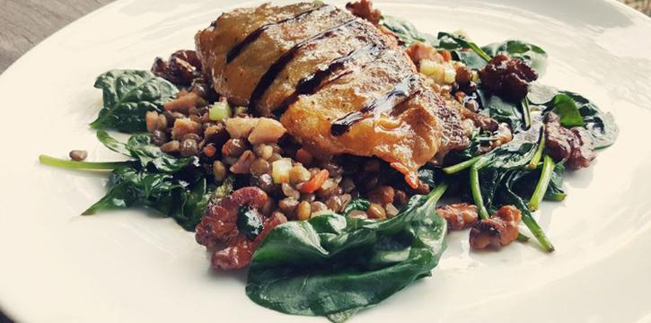 Grilled Trout with Warm Spinach from Met Cafe at 918 Soi thonglor sukhumvit 55 Klongton nue, khet wattana Bangkok