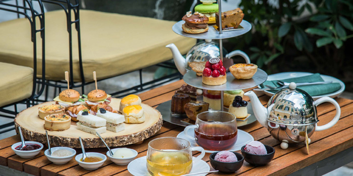Afternoon Tea House from the Courtyard at The House on Sathorn, Bangkok