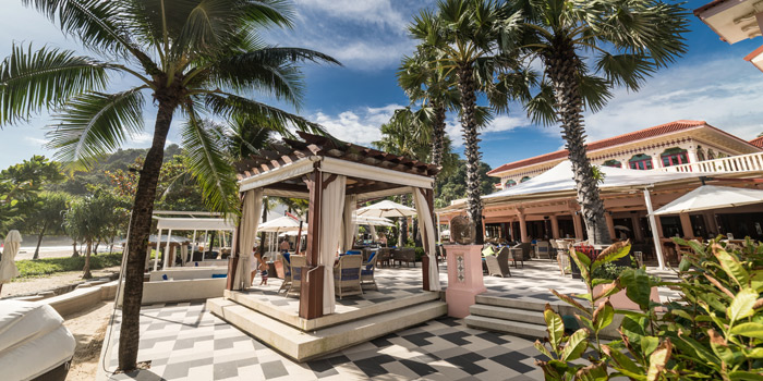 Bar of Coast Beach Club and Bistro in Patak Road Kata Muang Phuket, Thailand