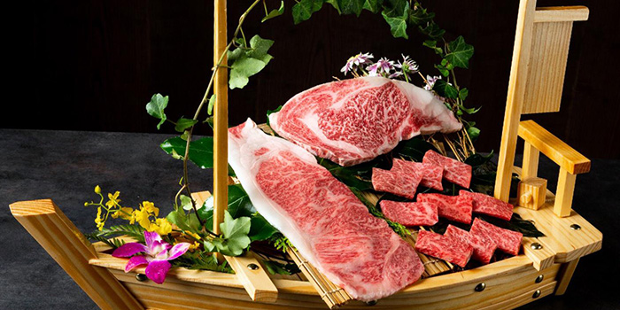 Assorted Beef Cuts from Magosaburo at Ngee Ann City in Orchard, Singapore