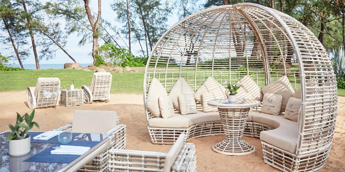 Atmosphere of M Beach Club at Maikhao,  Phuket, Thailand.