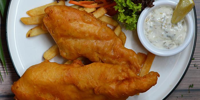 British Fish & Chips from Three Degree Cafe at NTU Alumni Club in Buona Vista, Singapore