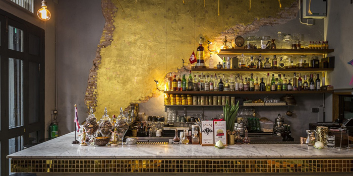 Bar Area of TEP BAR on Charoen Krung Road, Bangkok