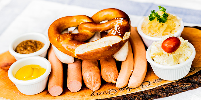 Bavarian Sausage Platter from Deutchlander in Clarke Quay, Singapore