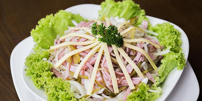 Bavarian Sausage Salad from Deutchlander in Clarke Quay, Singapore