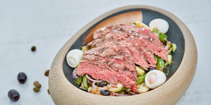 Beef-Nicoise-Style from M Beach Club at Maikhao,  Phuket, Thailand.