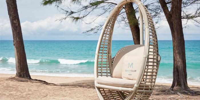 Sitting of M Beach Club at Maikhao,  Phuket, Thailand.