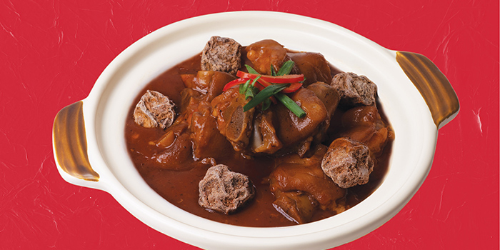 Braised Pork Knuckle with Dried Plum in Clay Pot, Mall Café, Tsim Sha Tsui, Hong Kong