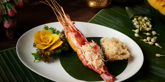 Broiled River Prawn Salad with Ginger and Citrus from Saneh Jaan at G/F, Sindhorn Tower 130-132 Wireless Road Pathumwan Bangkok