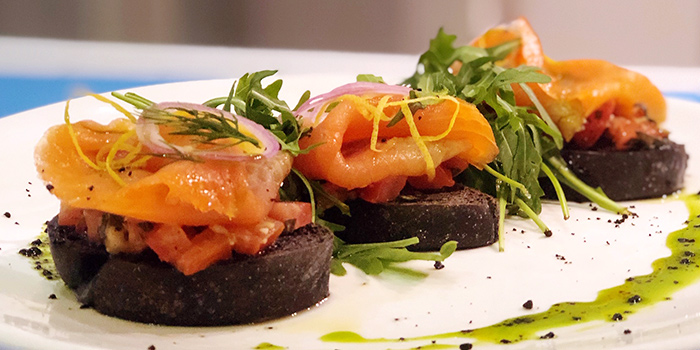 Bruschetta Al Nero from Vespetta Italian Restaurant in Boat Quay, Singapore