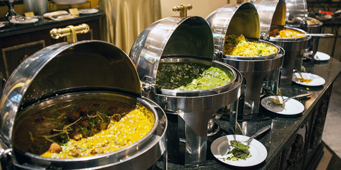Buffet from Shahi Maharani Indian Restaurant in Raffles City Shopping Centre on North Bridge Road Singapore