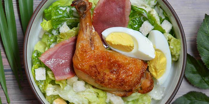 Caesar Salad with Chicken Confit from Three Degree Cafe at NTU Alumni Club in Buona Vista, Singapore