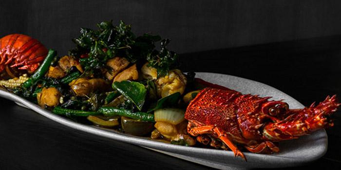Pad Cha of Baby Lobster at Som Chai Bali